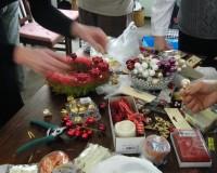 Kanape / Výroba vánočních věnců