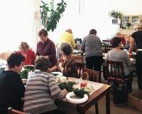 Kanape - Výroba adventních věnců 11/2017